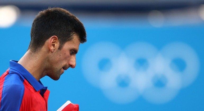 Djokovic, grande favorito ao ouro, lamentou falta de medalhas em Tóquio