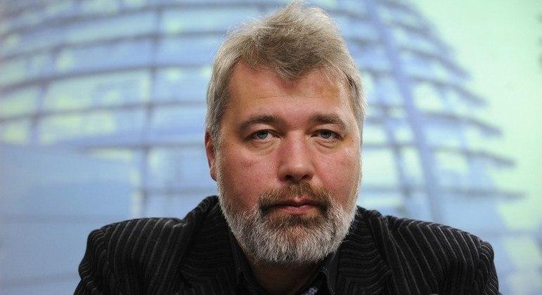 Dmitry Muratov, editor-chefe do principal jornal independente da Rússia, recebeu o Prêmio Nobel da Paz