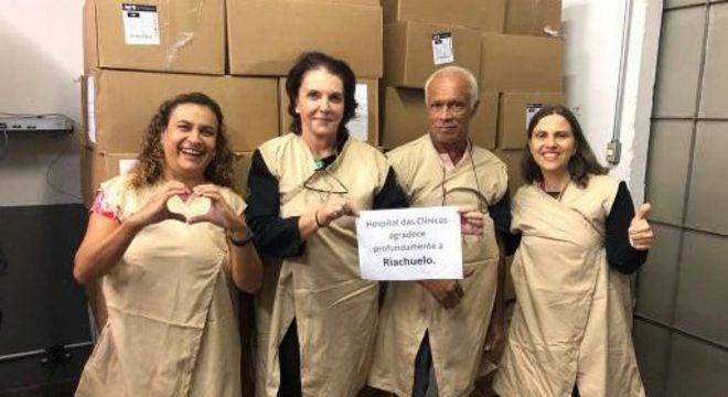 Doações da varejista chegaram a profissionais do Hospital das Clínicas de SP