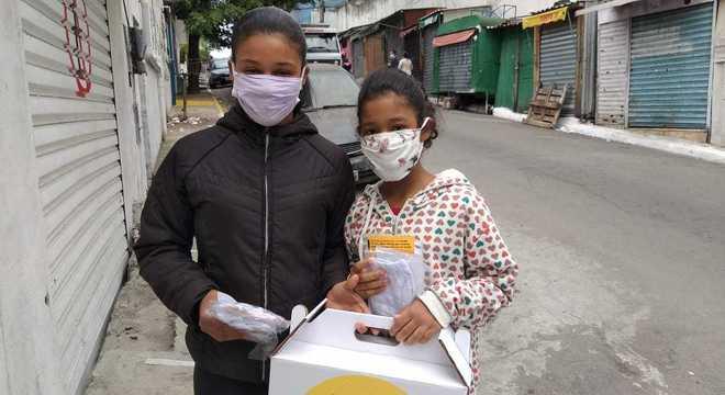 Cerca de 9 mil máscaras foram doadas em comunidade da zona sul de SP