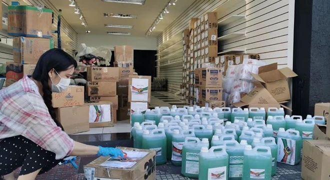Produtos de higiene doados por comunidade chinesa de São Paulo