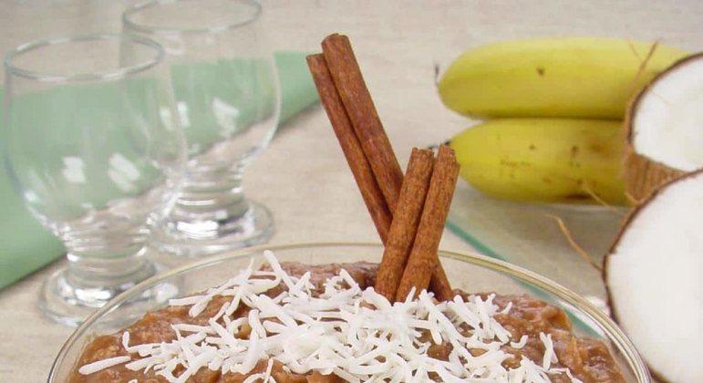 Doce de banana com coco é a combinação perfeita! Experimente!