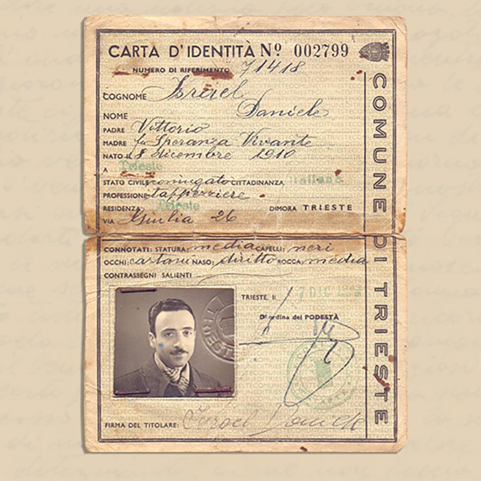 Documento de identidade de Daniele Israel