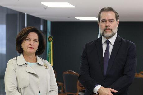 Raquel Dodge e Dias Toffoli, após reunião