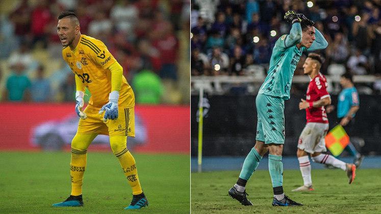 Dois especialistas em pênaltis: Gatito Fernández levou a melhor no duelo com Diego Alves, sendo mais votado pelos repórteres e editores do LANCE!.