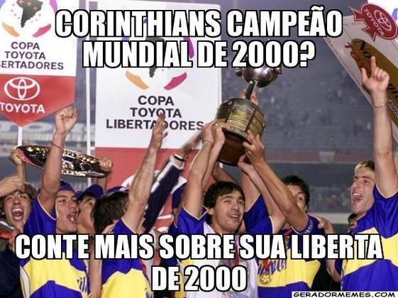 Dois títulos mundiais com apenas uma Libertadores? O torcedor corintiano precisa conviver com essa provocação diariamente