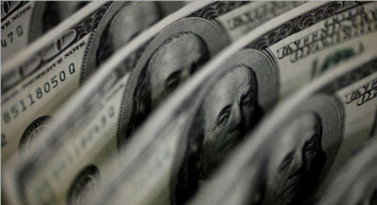 O dólar interbancário fechou em alta de 0,71%, a R$ 5,4849