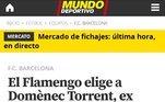 O catalão Mundo Deportivo também noticiou a contratação do ex-auxiliar de Guardiola junto ao Flamengo