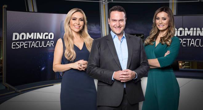 Thalita Oliveira, Eduardo Ribeiro e Patrícia Costa comandam o jornalístico