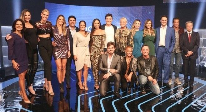 Evento na sede do Grupo Record reuniu um time de estrelas da TV