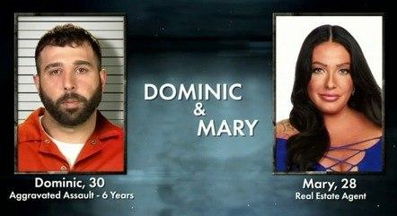 Dominic e Mary gravaram o reality em 2016 e 2017