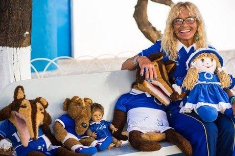 Dona Salomé levava bonecos ao estádio nos jogos