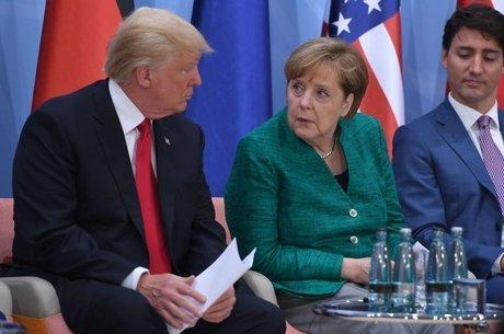Donald Trump e Angela Merkel têm visões divergentes sobre gastos militares