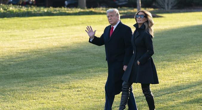 Melania Trump criticou a violência no Capitólio