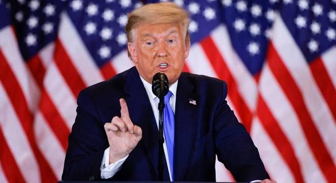 Trump fez pronunciamento na Casa Branca