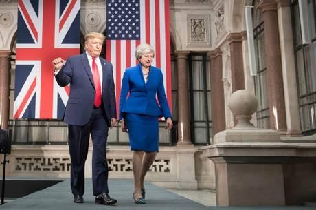 Trump promete acordo comercial com Reino Unido