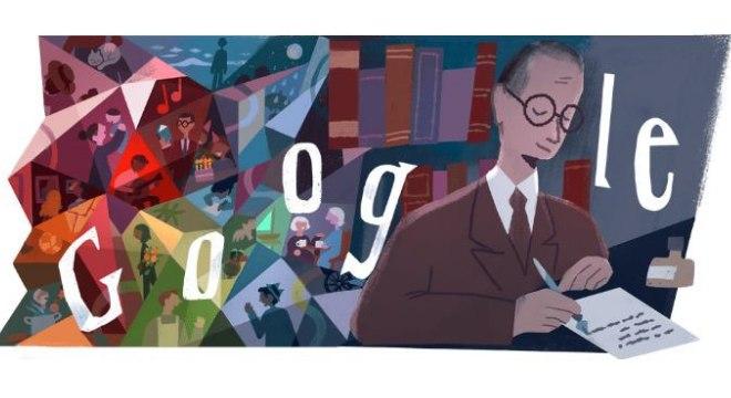 Aniversário de Drummond é tema de Doodle do Google