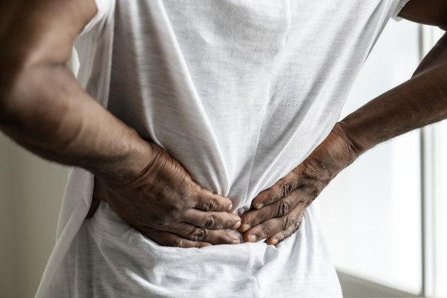 Na região e lombar quadril no dor aguda