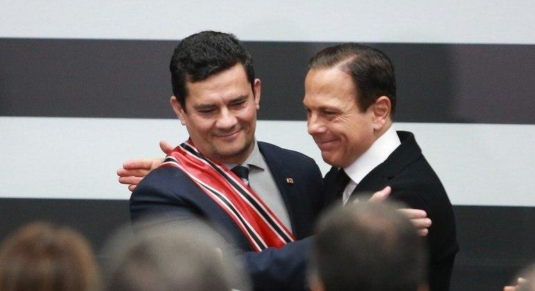 O ex-juiz Sergio Moro e o governador de São Paulo se reuniram com Mandetta