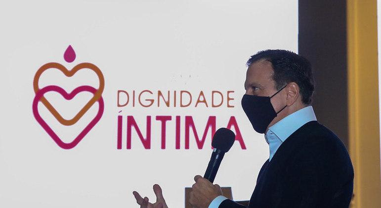 Doria lança programa Dignidade Íntima