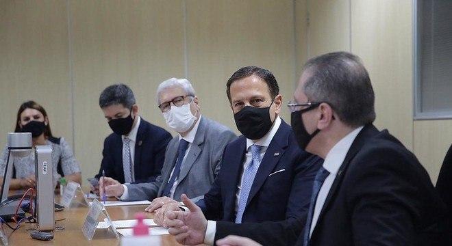 Governador João Doria tem encontro com diretores da Anvisa, em Brasília