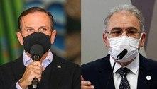 Queiroga e Doria se alfinetam após anúncio de SP: 'Quanto recalque'