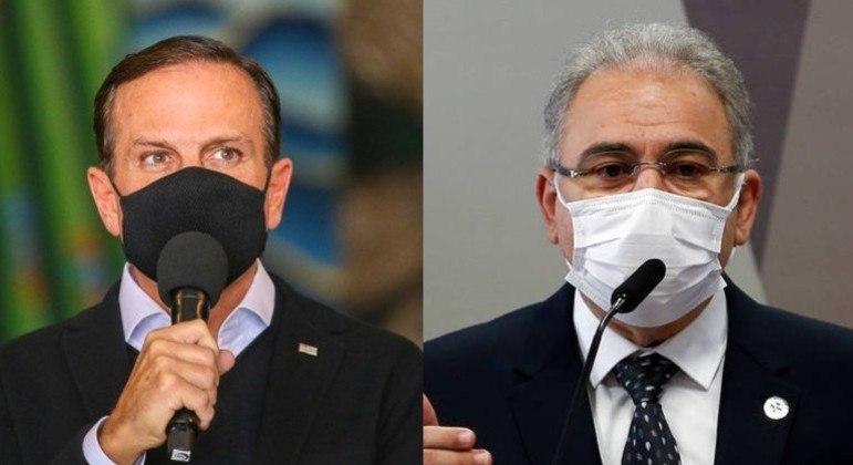Doria e Queiroga já tinham trocado farpas sobre entregas do Ministério da Saúde