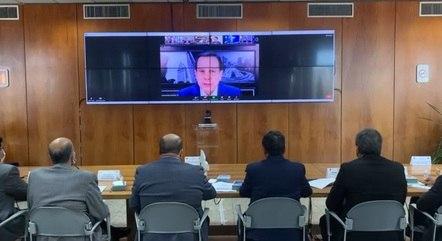 Governador de São Paulo, João Doria (PSDB), fala durante reunião de governadores