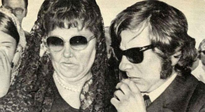 Doris Tate e Polanski, no funeral