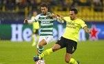Borussia Dortmund 1x0 SportingEm um jogo truncado e de poucos gols, o Borussia Dortimund saiu com a vitória no jogo contra o Sporting de Portugal