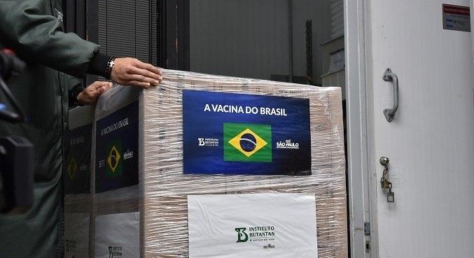 Governo paulista já realizou a entrega de 92,850 milhões de doses da CoronaVac
