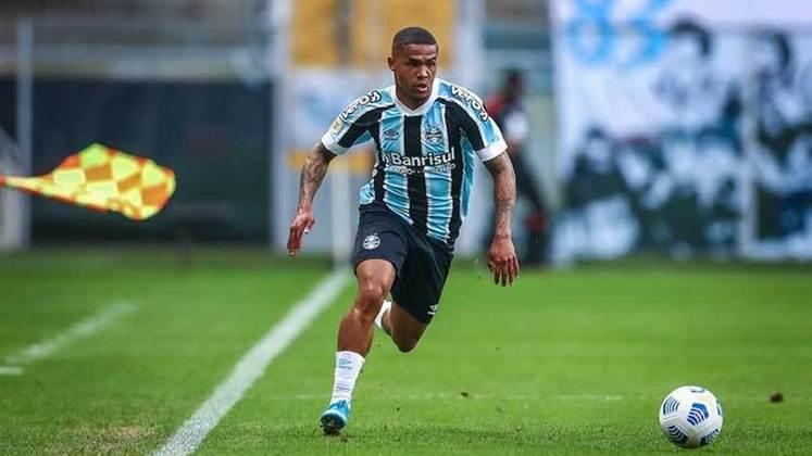 Douglas Costa; o ponta chegou como principal reforço para o Grêmio, mas vem sofrendo com lesões e ainda não balançou as redes para o Imortal. Sua única participação em gol foi uma assistência na derrota dos gaúchos contra o Athletico-PR.
