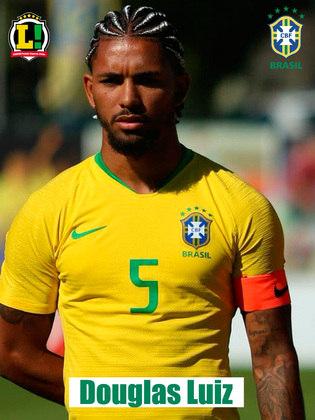 Douglas Luiz - 5,0 : Se aproximou dos zagueiros para ajudar na construção inicial das jogadas ofensivas, mas errou muitos passes e lançamentos . Levou amarelo por cotovelada sem necessidade em uma disputa de bola e foi substituído no intervalo.