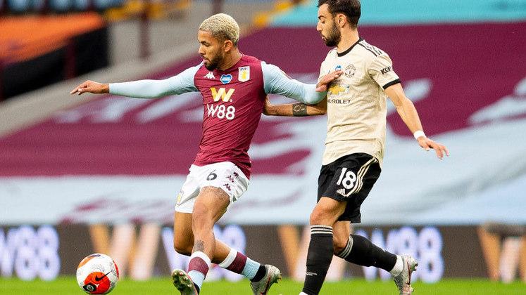 Douglas Luiz: na grande vitória do Aston Villa por 1 a 0 sobre o Manchester United em pleno Old Trafford, o volante campeão olímpico deu a assistência para o gol de Hause.