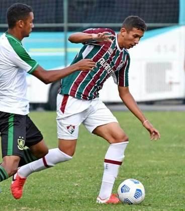 Douglas Nathan - 19 anos - meio-campista - contrato com o Fluminense até 30/01/2023