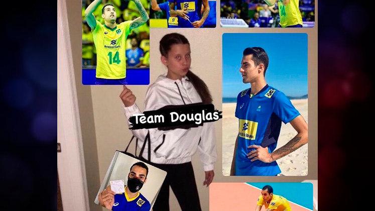 Douglas Souza tem conquistado os torcedores com seu carisma nas mídias sociais e também sua competência em quadra