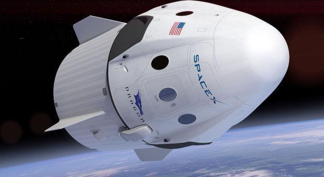 Imagem ilustrativa da na cabine Dragon no espaço