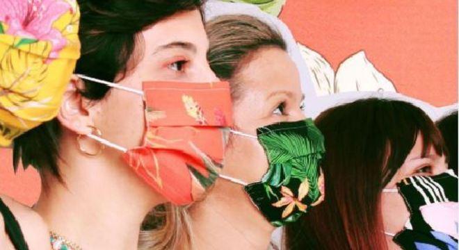 A iniciativa quer promover a doação de alimentos e o uso da máscara