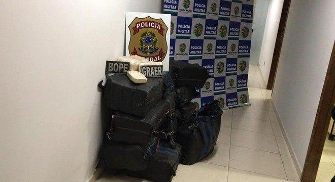 500 quilos de pasta base de cocaína foram apreendidos