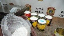 PF apreende drogas em latas de compotas de frutas em SP