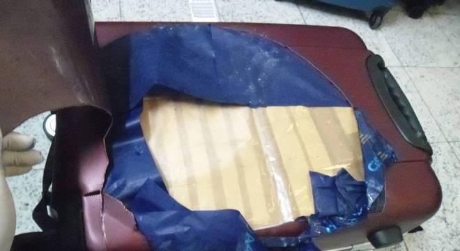 Dois quilos de cocaína estavam ocultos em mala de passageira  que ia para Turquia