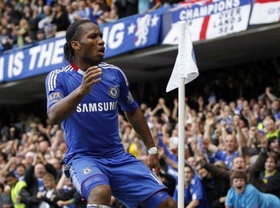 Drogba: A lenda costa-marfinense tem 44 gols em 92 jogos, sendo a maioria deles pelo Chelsea, clube onde fez o gol decisivo que encaminhou para a conquista da Champions de 2012.