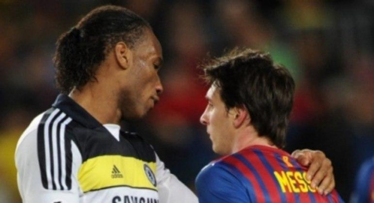 Drogba e Messi - Barcelona x Chelsea - 2012