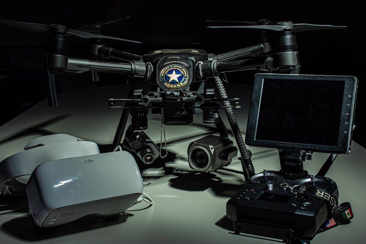 Drone usado pela Receita para detectar pontos de calor durante a noite