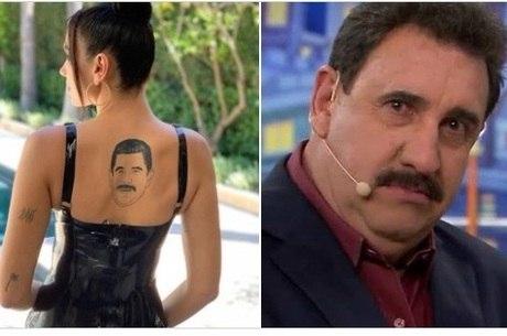 Fãs compararam tatuagem da cantora com apresentador