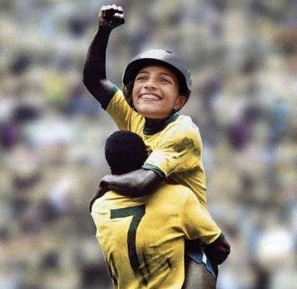 Duas lendas em apenas uma foto: Rayssa Leal e Pelé