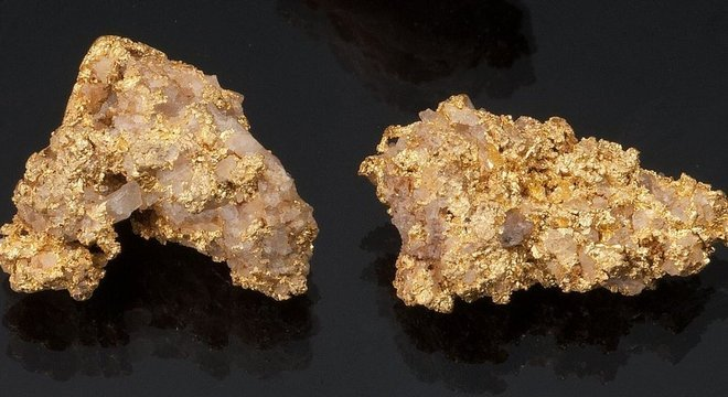 Estas pepitas de ouro foram extraídas em local próximo ao Pico do Jaraguá, em São Paulo