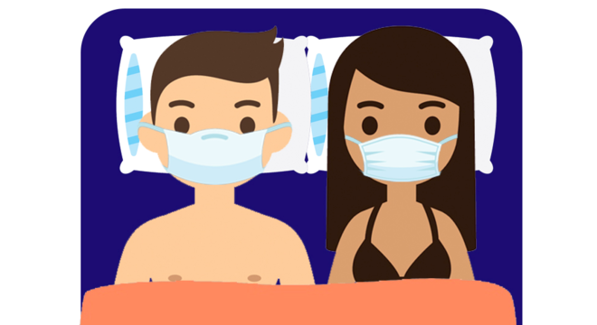 Não adianta usar máscaras na cama; especialistas respondem a perguntas sobre sexo e coronavírus