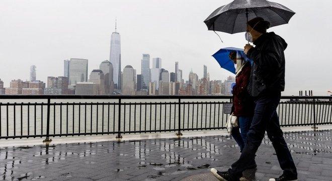 Nova York se tornou o epicentro da epidemia nos Estados Unidos