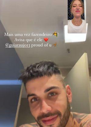 Duda postou print de vídeo chamada com Gui
